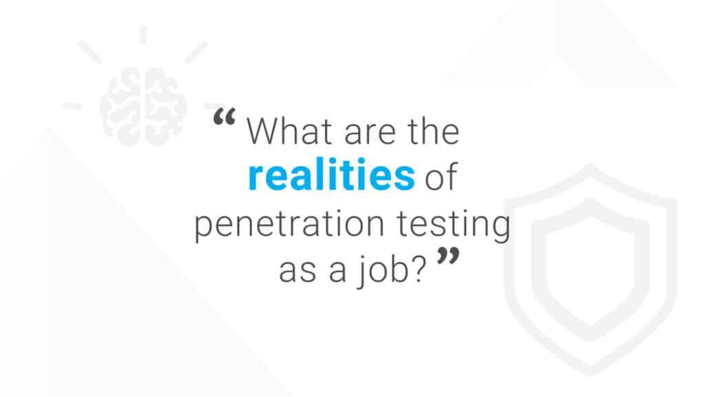Penetration Testing as a Job